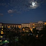 Moonrise over the hotel -