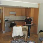 Kitchenette.......no plates, cutlery or utensils as All Inclusive holiday. Does have fridge