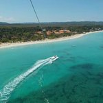 Parasailing over the resort