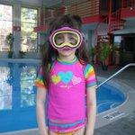 swimming in the pretty pool area