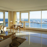 Neptune Suite sitting area and dining table with the best sea view in Hurghada