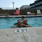 Me and my granddaughter enjoying the pool