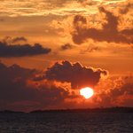 Sonnenuntergang auf Komandoo