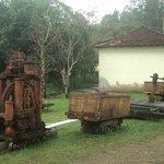 Antiguidades na recepção da mina