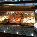 One of many breakfast buffet offerings. *Note, they do offer some limited gluten free breads.