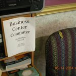 Business computer area in lobby