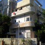 A typical (as yet unrestored) Bauhaus building in Tel Aviv