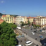 Piazza Tasso, from the airbnb attic apt we rented