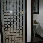 Bathroom door and closet