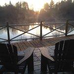 Moment de détente sur la terrasse au petit matin!