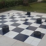 Love giant Checkers (or chess)!