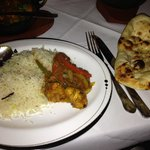 Chicken balti, pilau rice and plain nan...lovely