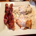 The best Biscuits and Gravy I have ever had! Sriracha Bacon