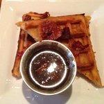 Sriracha Bacon Waffles