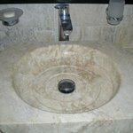 Sink in 1st of 2 bathrooms of Suite