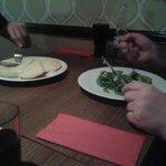 Ciabatta garlic bread & Gorgonzola Tart