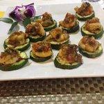 Ottimo piatto malesiano con gamberi e zucchine