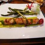 Seafood brochette entree