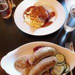 Duck Schnitzel and Wurst Platte