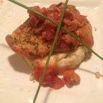 Salmon with ratatouille