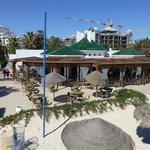 Beach restaurant - also showing building work behind