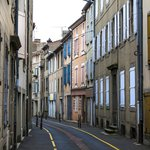 A quiet street in Mazamet within easy walking of the Villa.