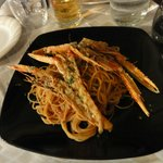Spaghetti langoustines