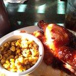 BBQ Chicken Dinner with Fire Grilled Corn