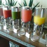 Freshly squeezed juices (breakfast buffet)