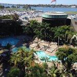 Pool area Marriott Marquis Marina