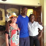 Me and the lovely staff at El Greco!