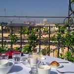 Perfekte Aussicht beim Frühstück