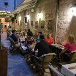 Private terrace, delicious food and unique Croatian wine..