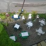 giardino visto dall'alto