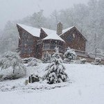 Snow storm on the Mountain