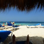 Beautiful beaches with tons of loungers and palapas