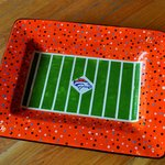Custom, made by you, pieces are great way to add an extra punch to any football party. This plat