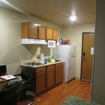 Kitchen area with table