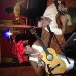 Having fun with the Guitar Player, Yoban at The Pearl, May 3, 2014