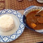 Welsh beef Massoman curry with jasmine rice