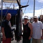 Marlin caught on Panga Trip