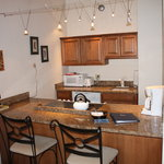 Kitchen is open to the dining area