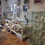 Inside showing arts & crafts