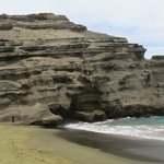 Green Sand Beach rock formation