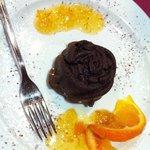 rosa di cioccolata con confettura di arance.... MERAVIGLIOSA!