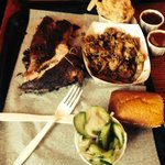 Pork ribs/Pulled Chix/cuke salad