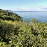 View of the sea from the cliff walk