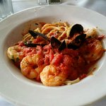 Shrimp Fra Diavolo at Marro's