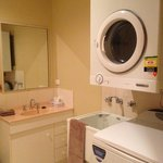 Bathroom Laundry Unit 3. Full size washer and dryer