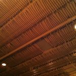 Antique pipes decorate the ceiling.